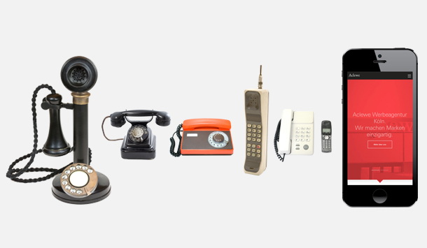 Aclewe Evolution des Telefons