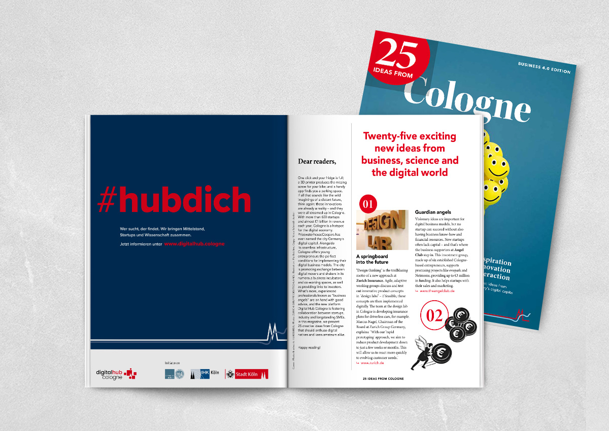 Aclewe #hubdich Kampagne Anzeige in Magazin
