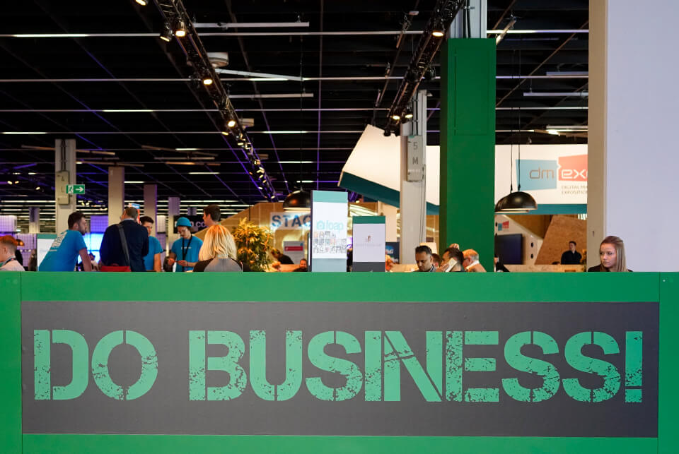 Aclewe dmexco 2017 Do Business Slogan