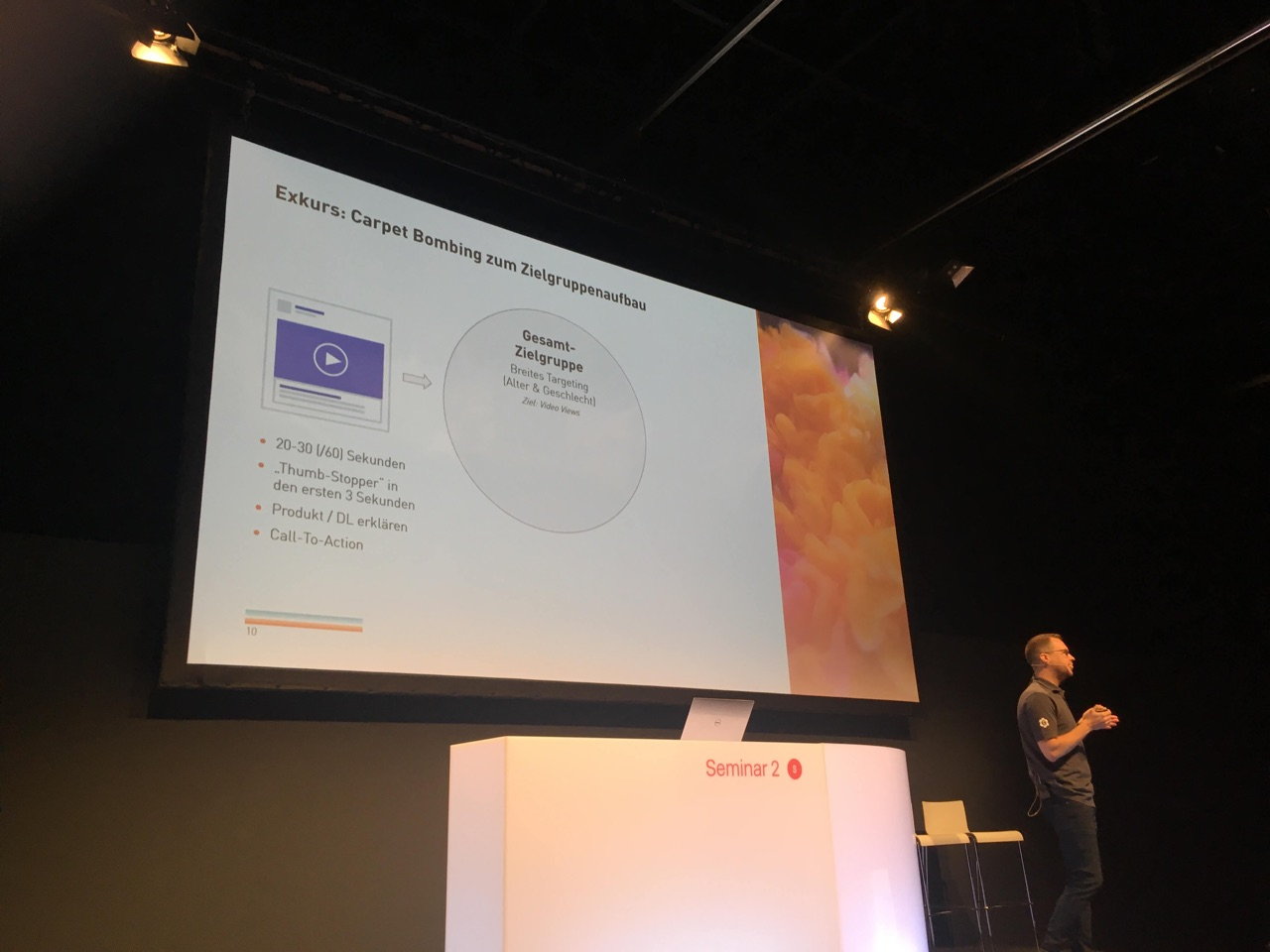 Aclewe bei dmexco 2019 Seminar zu Facebook Advertising